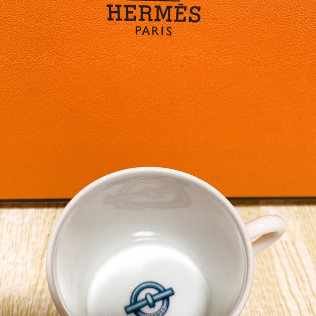 Hermes(エルメス)の☆美品☆ HERMES シェーヌダンクル デミタス スクエアプレート セット インテリア/住まい/日用品のキッチン/食器(食器)の商品写真