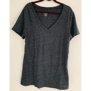 オールドネイビー(Old Navy)のTシャツ Vネック 無地 グレー(Tシャツ(半袖/袖なし))