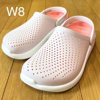 crocs - 新品 新素材クロックス ライトライド クロッグ W8 24cm ピンク