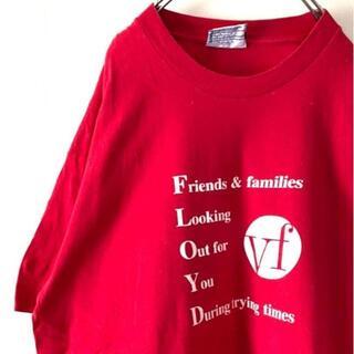 アイスクリーム(EYESCREAM)のリー VF Tシャツ XL レッド 赤 古着ビンテージ(Tシャツ/カットソー(半袖/袖なし))