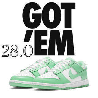 NIKE - 28.0 NIKE WMNS DUNK LOW green glow
