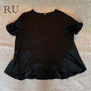 RU - 【大きいサイズ】RU シルケットバックフレアカットソー