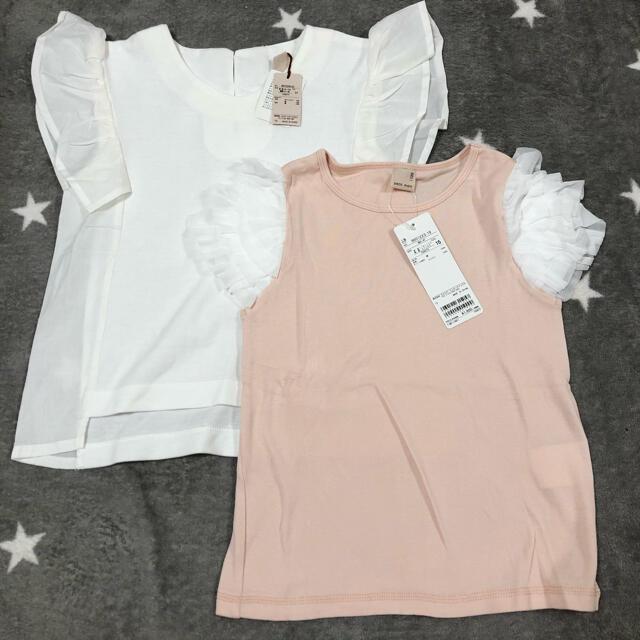 petit main(プティマイン)のpetitmain 新品未使用 120 Tシャツ2点セット キッズ/ベビー/マタニティのキッズ服女の子用(90cm~)(Tシャツ/カットソー)の商品写真