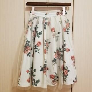 レストローズ(L'EST ROSE)のLEST ROSE 花柄スカート(ひざ丈スカート)