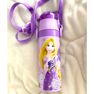 ディズニー(Disney)の ラプンツェル 子供用 2WAY ステンレス 水筒 コップ付き (水筒)