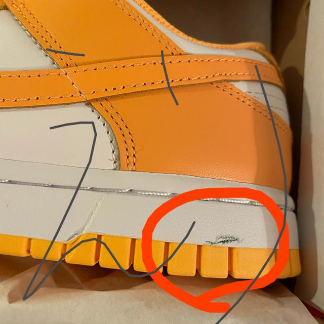 NIKE(ナイキ)のNIKE WMNS DUNK LOW LASER ORANGE 24cm レディースの靴/シューズ(スニーカー)の商品写真