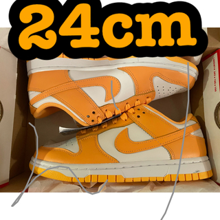 NIKE - NIKE WMNS DUNK LOW LASER ORANGE 24cm