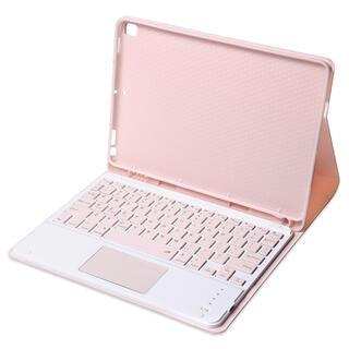 【新品】ピンク 10.2インチiPadケース タッチパッド搭載キーボード(iPadケース)