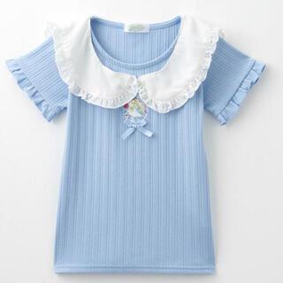 しまむら - ECONECO エコネコ アリス セーラー襟  Tシャツ  110