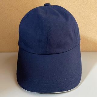 男女兼用 帽子 ネイビー×ホワイトライン キャップ(キャップ)