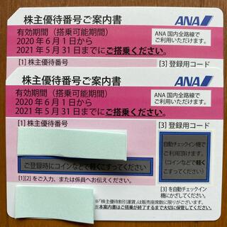 ANA株主優待券2枚セット 2021/11/30まで(その他)