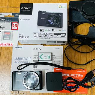 ソニー(SONY)のSONY Cyber-shot DSC-WX300(B) 付属品+おまけ(コンパクトデジタルカメラ)