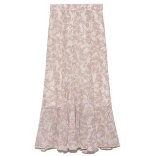 ヘムフレアプリントスカート