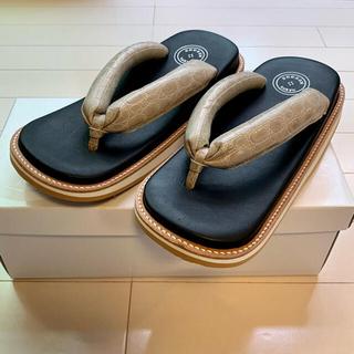 レザー雪駄 サン駄 (江戸前 sandal) seesaw tokyo LIFT