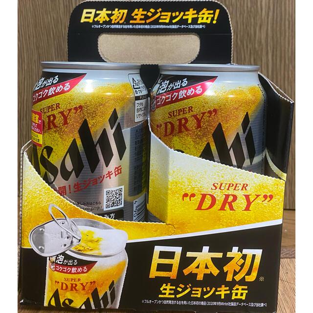 アサヒ(アサヒ)のスーパードライ 生ジョッキ缶 4本セット 食品/飲料/酒の酒(ビール)の商品写真