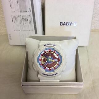 ベビージー(Baby-G)の美品☆BABY-G 国内正規品 BA-112-7AJF アナデジ 白ホワイト(腕時計)
