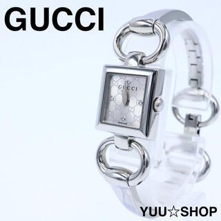 グッチ(Gucci)の極美品【4Pダイヤ】GUCCI 120 トルナヴォーニ GG柄 腕時計 稼動品(腕時計)
