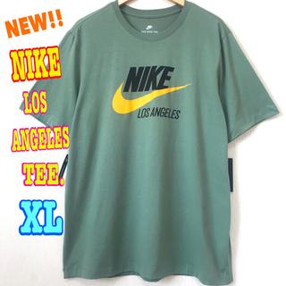 ナイキ(NIKE)のUSモデル ♪ ナイキ ロサンゼルス スウォッシュ ロゴTシャツ XL ~(Tシャツ/カットソー(半袖/袖なし))