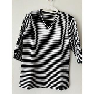 ヴァンキッシュ(VANQUISH)のVANQUISH 5分丈 ボーダー Tシャツ(Tシャツ/カットソー(七分/長袖))