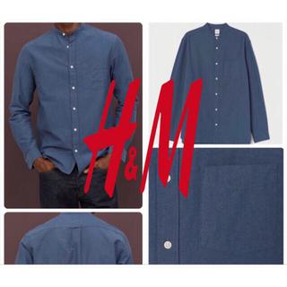 エイチアンドエム(H&M)のH&M オックスフォード スタンドカラーシャツ L 新品未使用 匿名発送⭕️(シャツ)