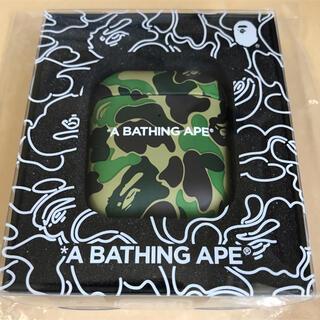 アベイシングエイプ(A BATHING APE)のア ベイシング エイプ ABC CAMO AIRPODS CASE GREEN(その他)