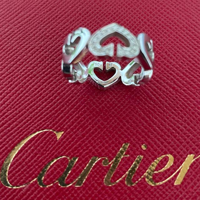 Cartier(カルティエ)のK18 WG ダイヤモンド カルティエCハートリング 48 レディースのアクセサリー(リング(指輪))の商品写真