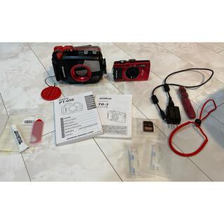 オリンパス(OLYMPUS)のダイビング オリンパスカメラtg-3とハウジングpt-056即日使用可能(コンパクトデジタルカメラ)