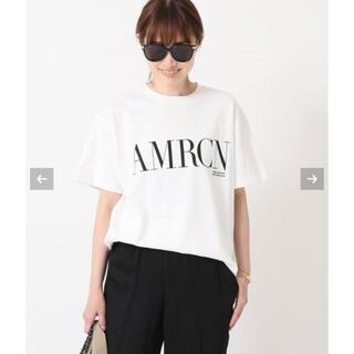 DEUXIEME CLASSE - 新品【AMERICANA/アメリカーナ】 AMRCN Tシャツ  ホワイト
