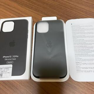 アップル(Apple)の iPhone12/ 12pro【アップル純正シリコン.BLACK.未使用品】(iPhoneケース)
