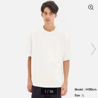ジーユー(GU)の新品✼GUヘビーウェイトビッグT(5分袖)XXL(Tシャツ/カットソー(半袖/袖なし))