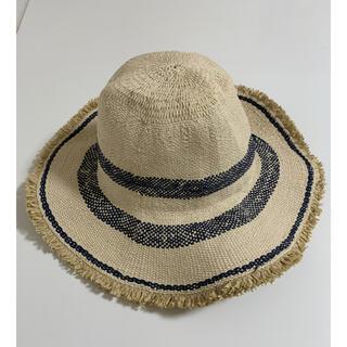 ZARA - ザラ ボーダーフリンジストローハット麦わら帽子