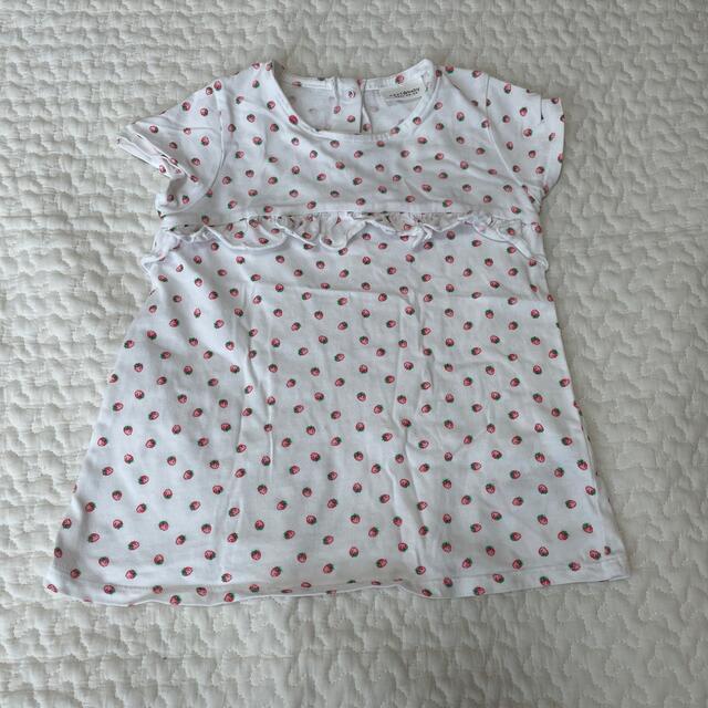 NEXT(ネクスト)のNEXT ショートスリーブシャツ 3点セット キッズ/ベビー/マタニティのキッズ服女の子用(90cm~)(Tシャツ/カットソー)の商品写真