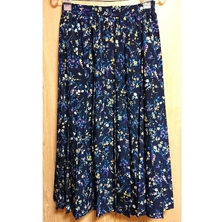 TOMORROWLAND - MACPHEE フラワープリントプリーツスカート