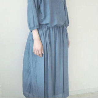 エヴァムエヴァ(evam eva)のゴーシュ ギャザースカート(ひざ丈スカート)