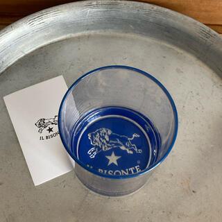 イルビゾンテ(IL BISONTE)の【IL BISONTE】 イルビゾンテのノベルティグラス 青(ノベルティグッズ)