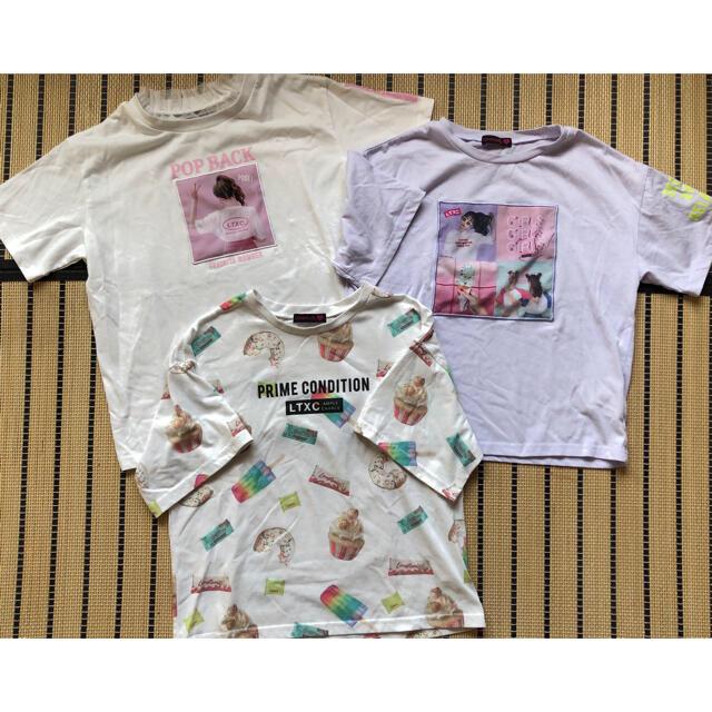 lovetoxic(ラブトキシック)のhiro♡様 Lovetoxic 160 Tシャツ3枚 キッズ/ベビー/マタニティのキッズ服女の子用(90cm~)(Tシャツ/カットソー)の商品写真