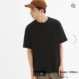 ジーユー(GU)の新品✼GUヘビーウェイトビッグTブラックXL(Tシャツ/カットソー(半袖/袖なし))