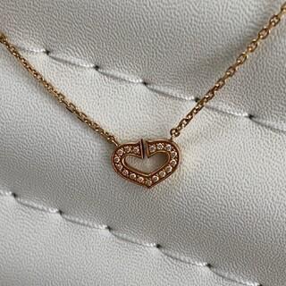Cartier - カルティエ Cハートダイヤモンド18金ネックレス