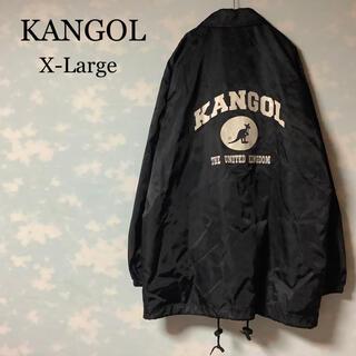 カンゴール(KANGOL)のKANGOL コーチジャケット ブラック メッシュ裏地 カンゴール 90s 刺繍(ナイロンジャケット)