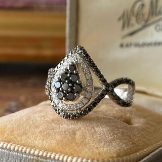 天然ブラックダイヤモンド 天然ホワイトダイヤモンド ソーティング付き
