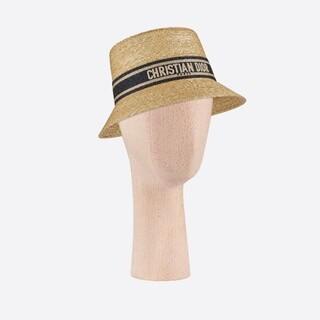 ディオール(Dior)のディオール ストローハット 麦わら帽子(麦わら帽子/ストローハット)
