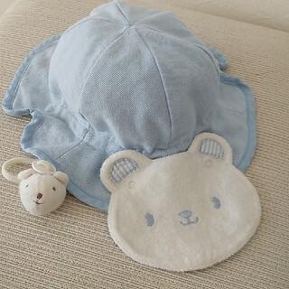 ベビーグース(BabyGoose)のベヒーグース しろくまさんUV帽子 紫外線カット(帽子)
