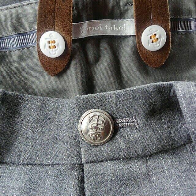 DEUXIEME CLASSE(ドゥーズィエムクラス)の美品 ippei  takei サスペンダー付きスラックス レディースのパンツ(カジュアルパンツ)の商品写真