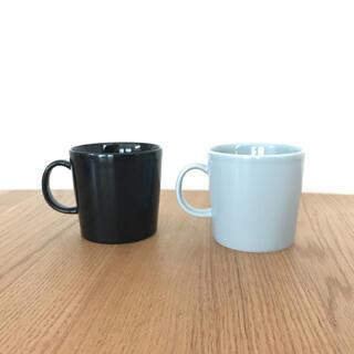 イッタラ(iittala)のイッタラ☆ティーマ☆300mlマグカップ☆ブラック&パールグレー(グラス/カップ)