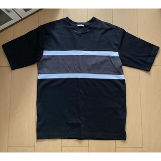ジーユー(GU)のTシャツ  黒  白 グレー  L(Tシャツ/カットソー(半袖/袖なし))