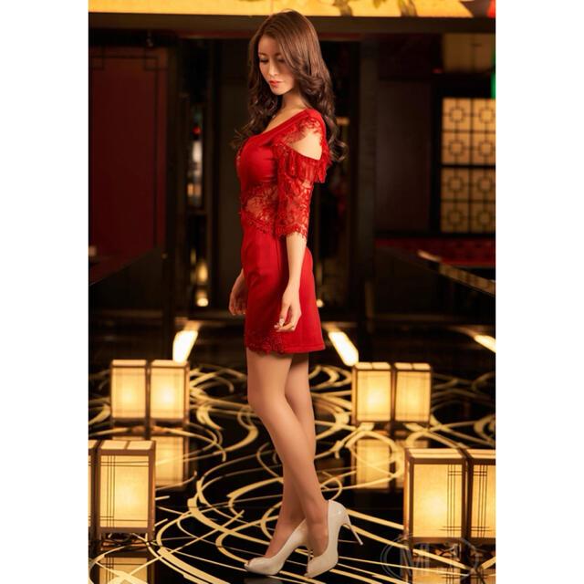 キャバドレス♡タイトドレス♡赤 レディースのフォーマル/ドレス(ナイトドレス)の商品写真