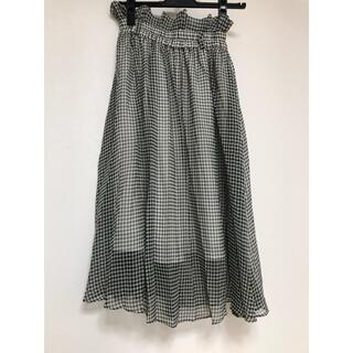 snidel - SNIDEL チェック柄スカート