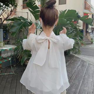 snidel - オーガンジーシースルーブラウス●ホワイト●
