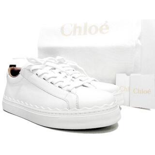 クロエ(Chloe)のクロエCHLOE■LAURENローレンホワイトレザースニーカー(スニーカー)
