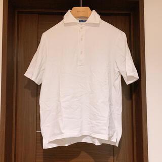 クルチアーニ(Cruciani)のリングジャケットringjacket ポロシャツ ホワイト XLメンズ 中古(ポロシャツ)